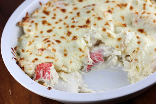 Asian baked imitation crabmeat with mayonnaise